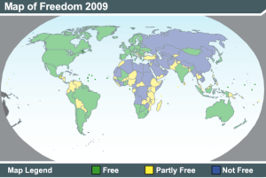Democracy map globr